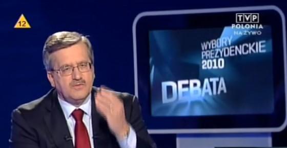 Komorowski bei der Fernsehdebatte