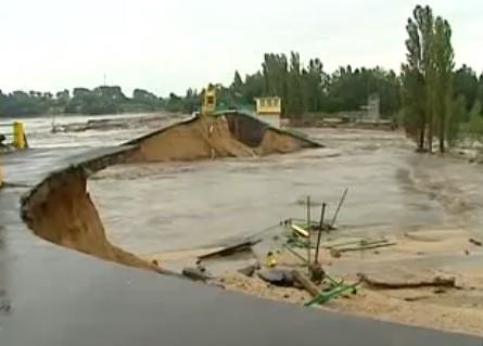Dammbruch am Witka-Stausee