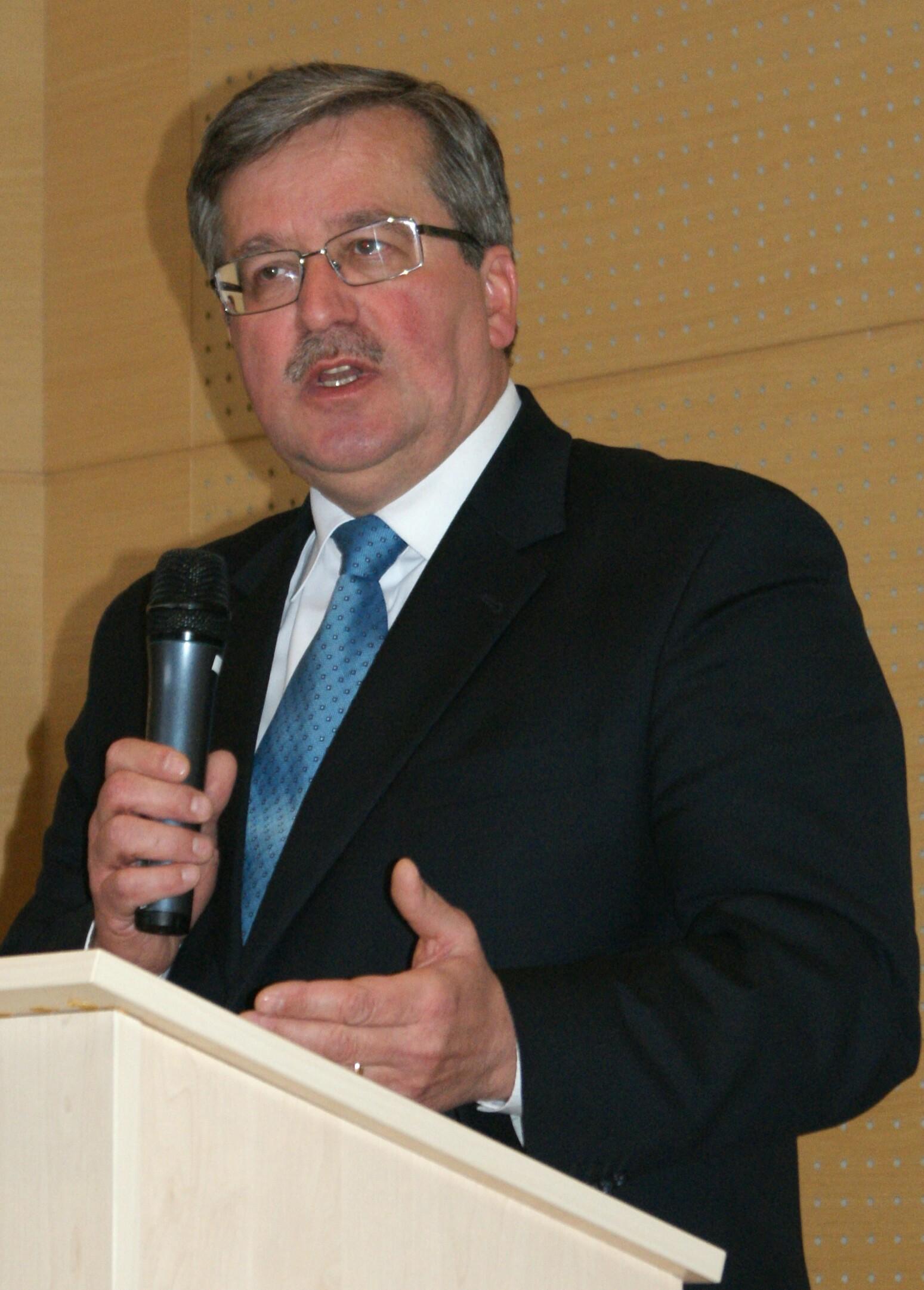 Der neue polnische Präsident Komorowski
