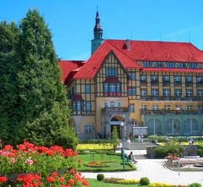 Kurpark Kudowa Zdroj in Schlesein