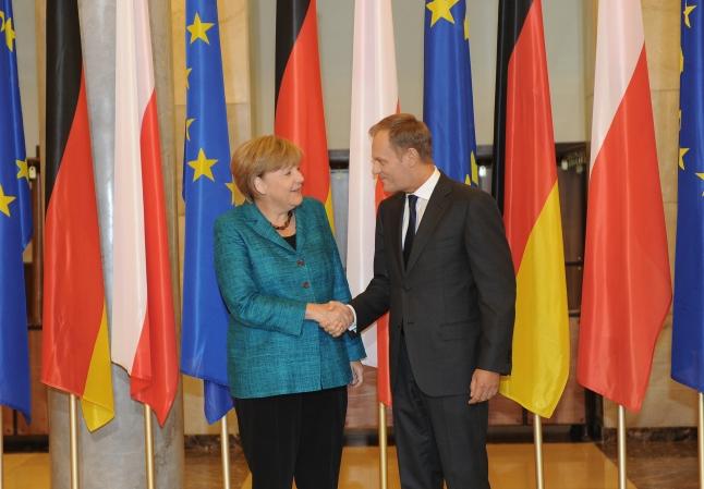 Donald Tusk und Angela Merkel, Foto: Presseamt Polnische Staatskanzlei