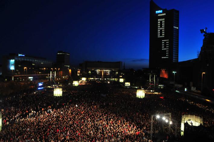 Lichtfest Leipzig, Foto: Westend