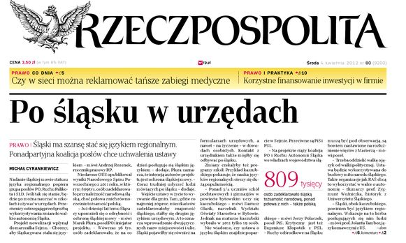 Schlesien und die Schlesier Thema in polnischen Medien