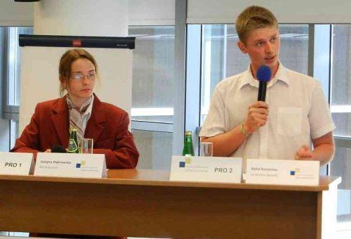 Rafal Korzeniec, Justyna Dabrowska, Jugend debattiert, Landesfinale Polen