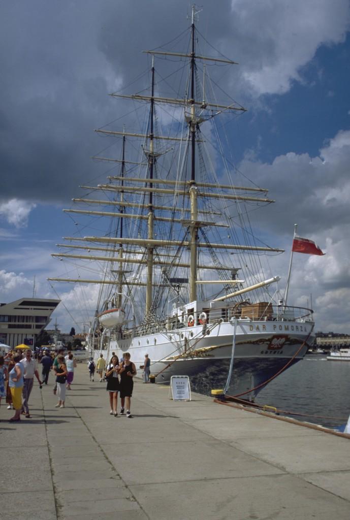 Großsegler Dar Pomorza im Museumshafen von Gdynia, Foto: B.Jäger-Dabek