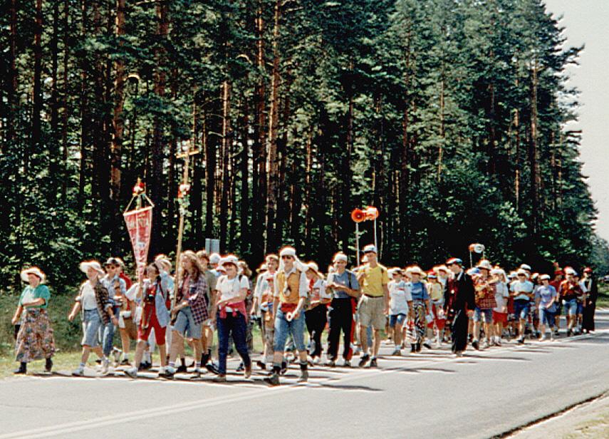 Pilger aus Masuren auf dem Weg nach Tschenstochau,