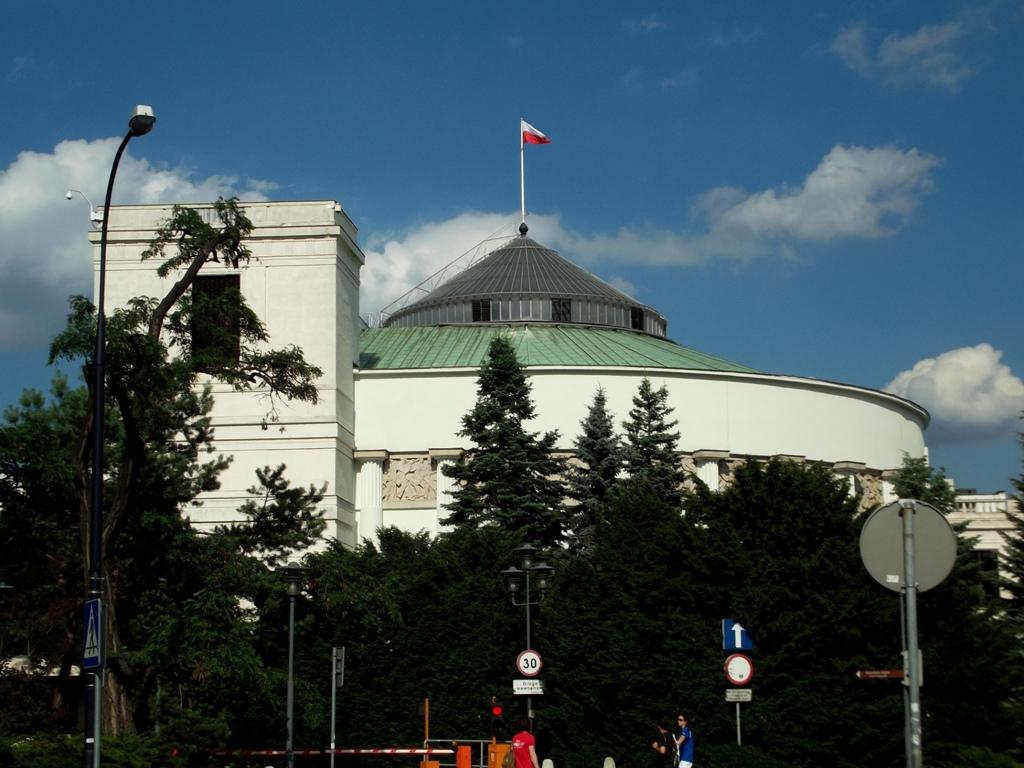 Polnisches Parlamentsgebäude Sejm in Warschau, Foto: Wikimedia Commons, Piotr Drabik