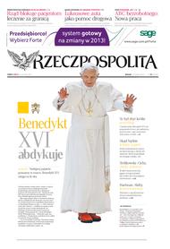 Medien-Thema: Rücktritt Benedikts XVI.; Foto: Rzeczpospolita-Ausgabe vom 13.02.2013