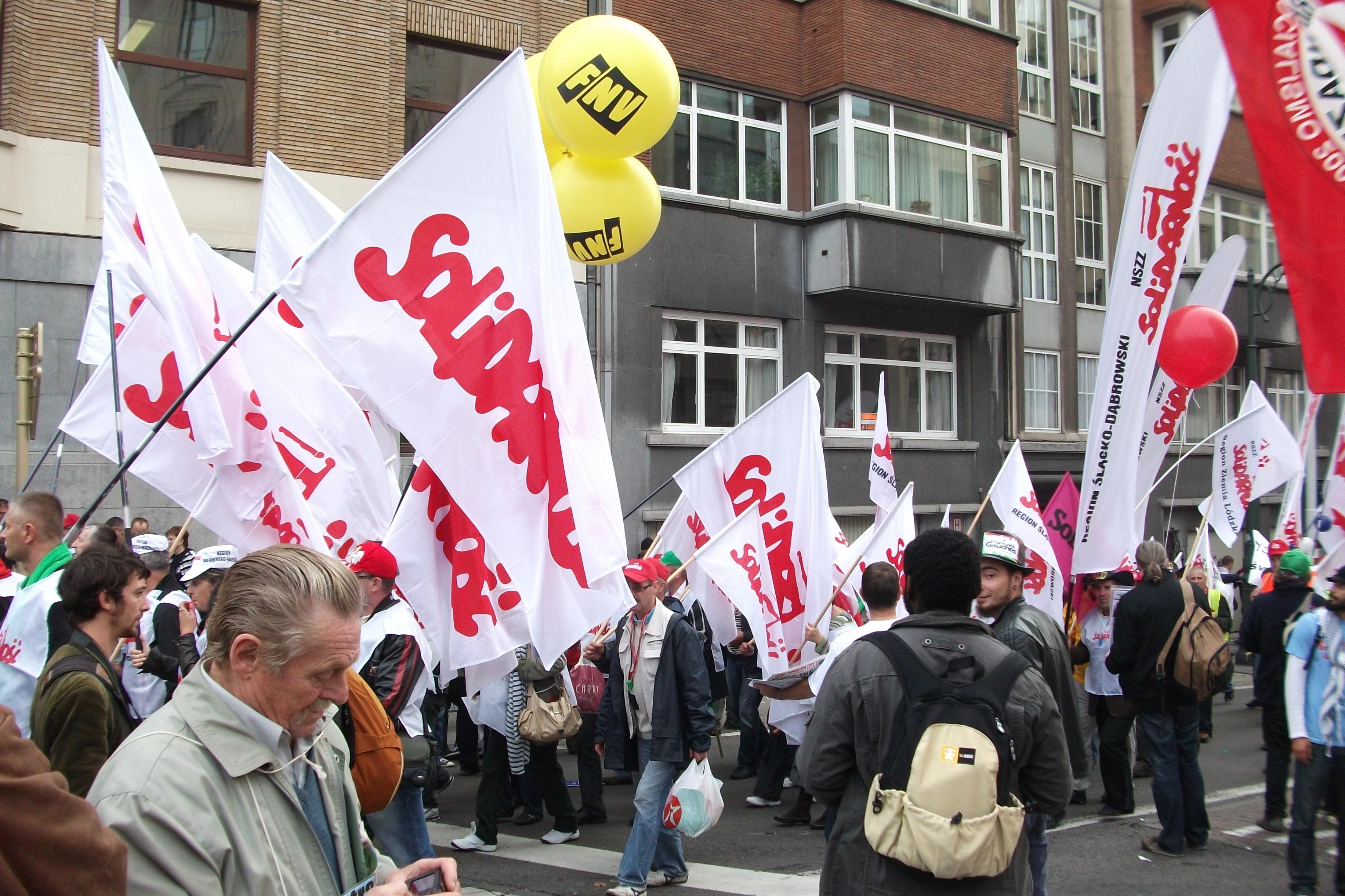 Gewerkschaft Solidarnosc protestiert, Foto: Gerlad Garitan CC-BY-SA-3.0