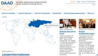 DAAD Internetseite