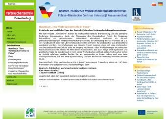 Deutsch-polnische VerbraucherInformationsZentrum der Verbraucherzentrale Brandenburg