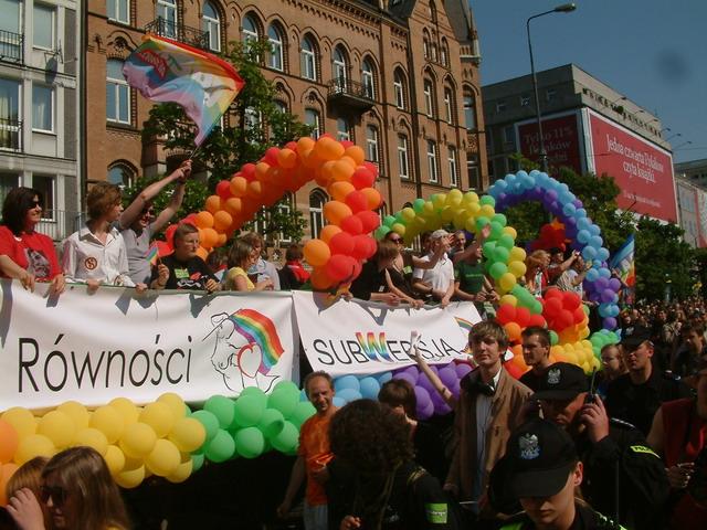 Gleichheitsparade Parada Rownosci in Warschau, Foto: Konrad Porowski, GFDL|cc-by-sa-2.0