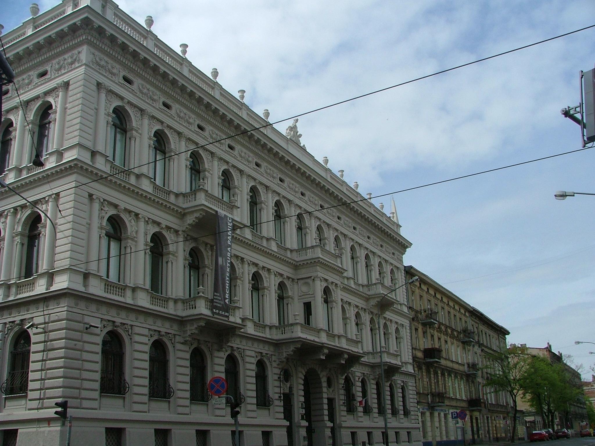 Das Museum Sztuki im Poznanski-Palast in Lodz, Foto: Patryk Korzeniecki, public domain