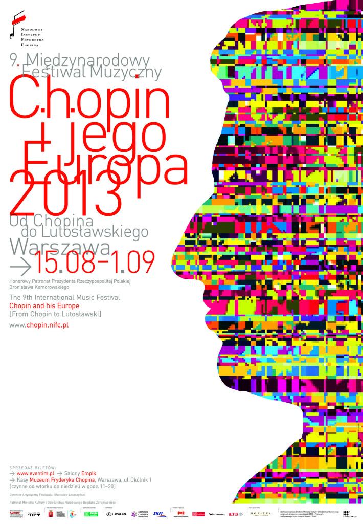 Chopin in seinem Europa 2013, Festivalplakat