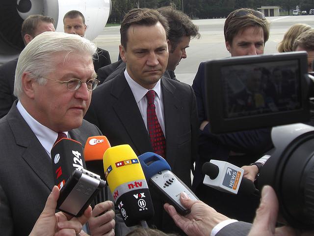 Frank-Walter Steinmeier und Radek Sikroski, Foto: PolandMFA, CC BY-ND 2.0
