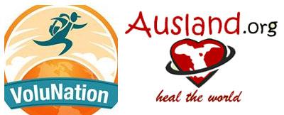 Logo Volunation und Ausland.org, Screenshot, www.ausland.org