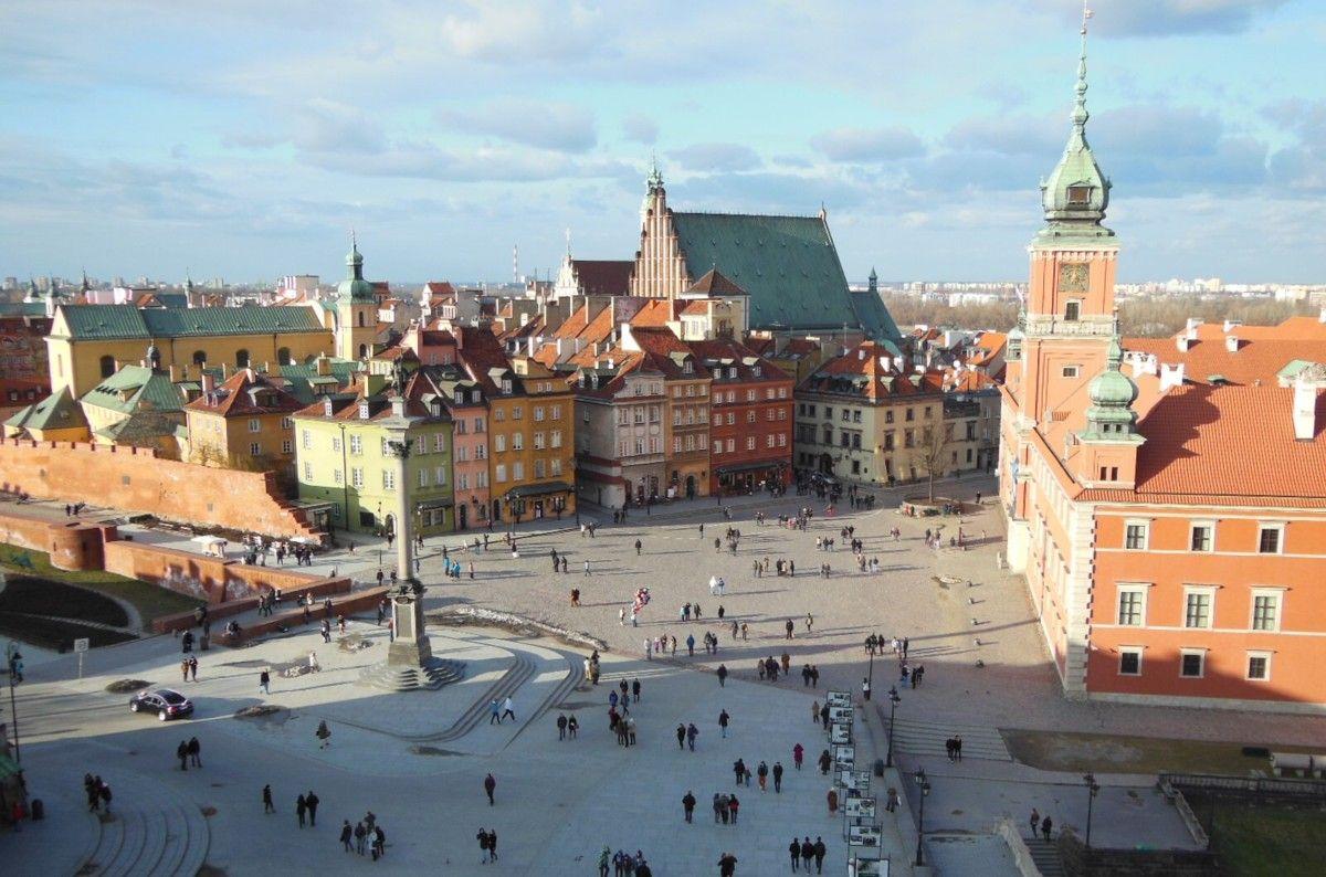 Warschau,Koenigsschloss und die Altstadt, Foto: Marzena Swirska-Molenda