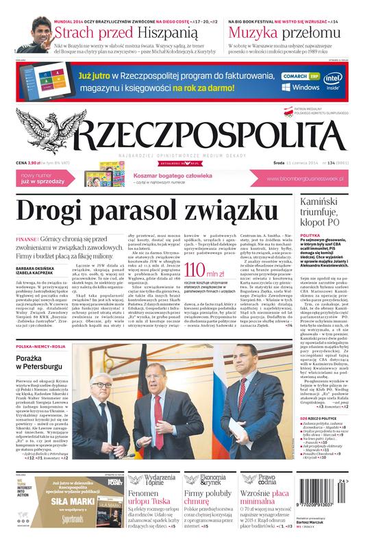 Außenministertreffen in St.Petersburg, Foto: Screenshot Titelseite Rzzeczpospolita