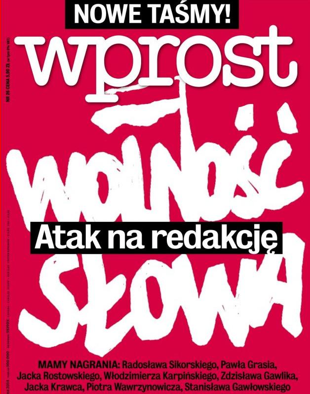 Polnisches Magazin Wprost, Titel vom 22.06.2014, Foto: wwwwprost.pl