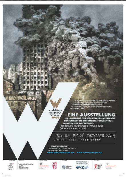 Ausstellung zum Warschauer Aufstand 1944, Foto: Ausstellungsplakat, topographie.de