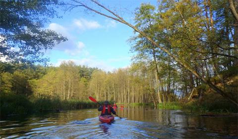 Wasserwandern auf der Brda, Foto: (c) ekajaki.de