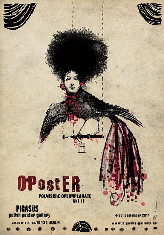 Ausstellungsplakat OPstER; Poster © Ryszard Kaja