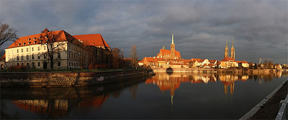 Panorama der europäischen Kulturhauptstadt Breslau (Woclaw), Foto: Filori, CC-BY-SA 4.0