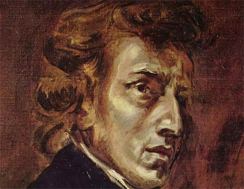 Frédéric Chopin, Gemälde von Eugène Delacroix