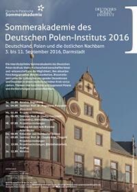 Sommerakademie des Deutschen Polen-Instituts, Plakat: © Deutsches Polen-Institut