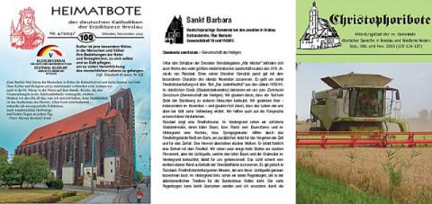 Die drei deutschsprachigen Gemeindebriefe in Polen, Foto: Internationale Medienhilfe IMH