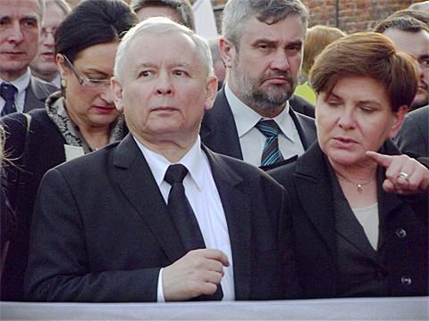 Jaroslaw Kaczynski und Beata Szydlo