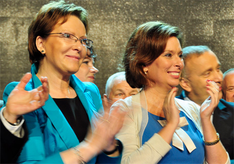 Ministerpräsidentin Kopacz (li) mit designierte Pralamentspräsidentin Kidawa-Blonska, Foto: © Platforma Obywatelska, CC BY-SA 2.0