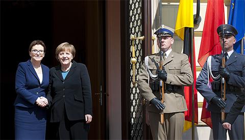 Polens Ministerpräsidentin Kopacz und Bundeskanzlerin Merkel