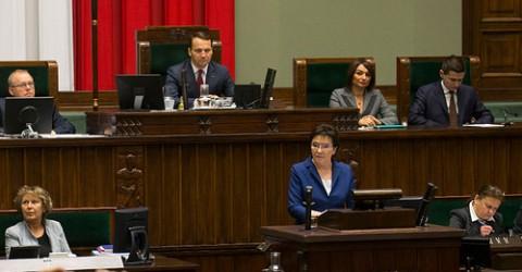 Ewa Kopacz verliest Regierungserklärung, Foto: Maciej Smiarowski/KPRM