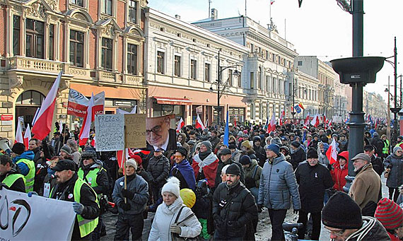 OD-Demonstration in Lodz am 23.1.2026