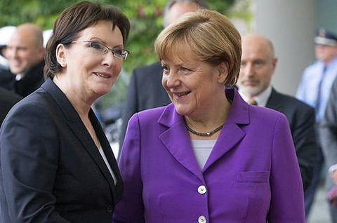 Bundeskanzlerin Merkel und die polnische Premierministerin Kopacz, Foto: M. ?miarowski / KPRM, CC BY-NC-ND 2.0