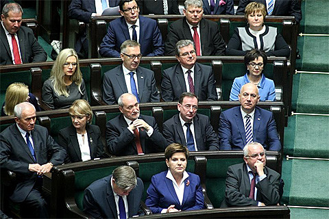Die PiS-Franktion im polnischen Parlament Sejm, Foto: Piotr Drabik, CC BY 2.0