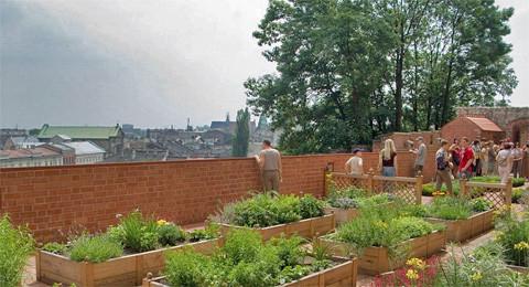 Gärten des Königsschlosses auf dem Wawel, Krakau