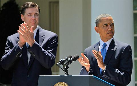 FBI-Direktor James Comay mit Präsident Obama, Foto: www.fbi.gov, gemeinfrei