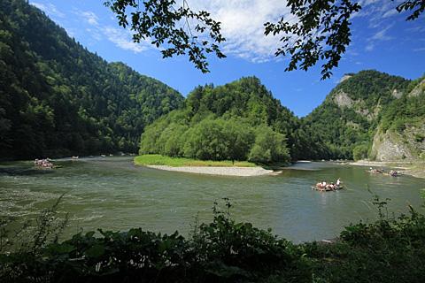 Auf dem Dunajec im Pieniny-Gebirge