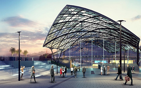Der neue Bahnhof Fabryczna in Lodz