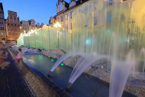 Wasserspiele Ostrow Tumski, Wroclaw