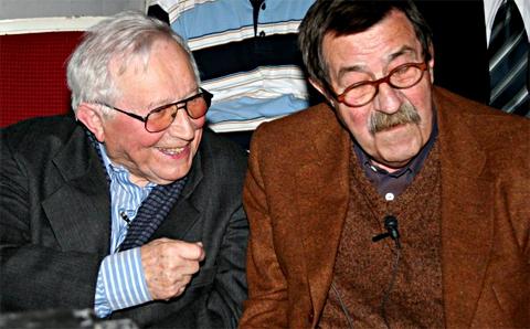 Der polnische Schriftsteller Tadeusz Rozewicz und Günter Grass, Foto: Micha? Kobyli?ski, CC BY-SA 2.5