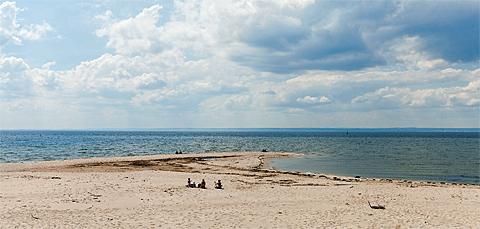 Strand an der Spitze von Hel