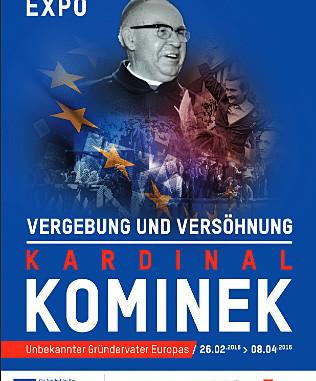 Berliner Austellung erinnert an Kardinal Kominek; Foto: Ausstellungsplakat, www.expokominek.com