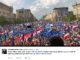 Rund 90.000 Polen gingen bei einer von der Bürgerplattform organisierten Demonstration in Warschau für die Demokratie und für Europa auf die Straße.