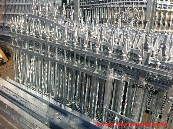 verzinkte Metallzäune aus Polen