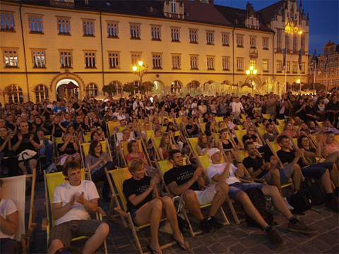 Sommerabend auf dem Rynek in Wroclaw