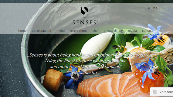 Sterne-Restaurant Senses in Warschau, Foto: screenshot, Restaurant Senses © www.sensesrestaurant.pl