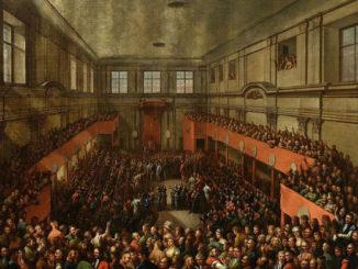 Verabschiedung der polnischen Verfassung am 3. Mai 1791, Foto: Gemälde von Kazimierz Wojniakowski, gemeinfrei